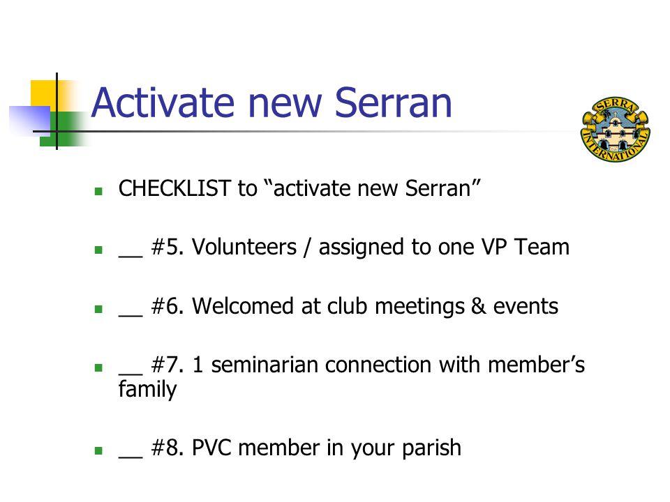 Activate new Serran CHECKLIST to activate new Serran __ #5.