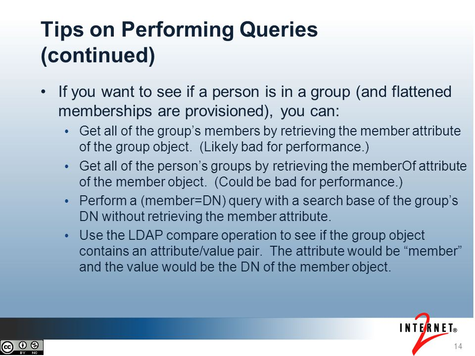 If you want to see if a person is in a group (and flattened memberships are provisioned), you can: Get all of the group's members by retrieving the me