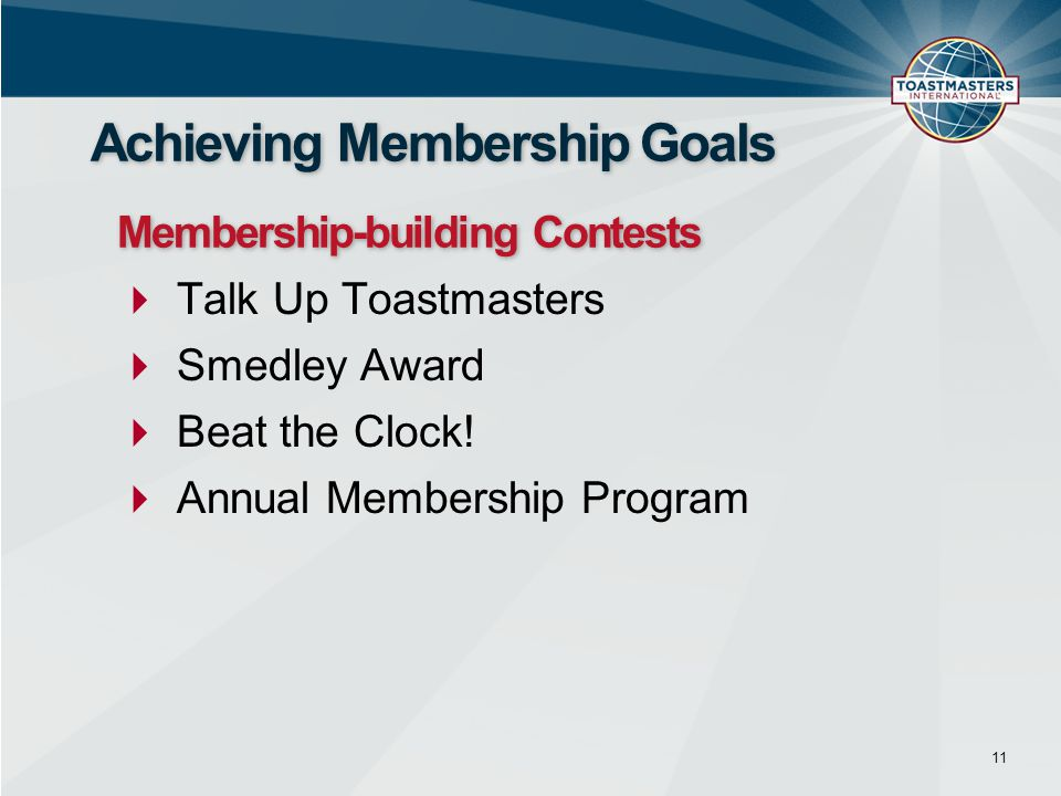  Talk Up Toastmasters  Smedley Award  Beat the Clock.