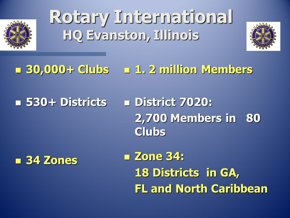 Rotary International HQ Evanston, Illinois Rotary International HQ Evanston, Illinois n 1.