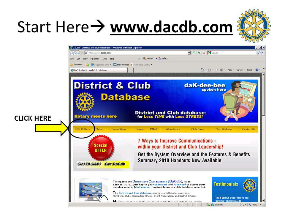 Start Here  www.dacdb.com CLICK HERE