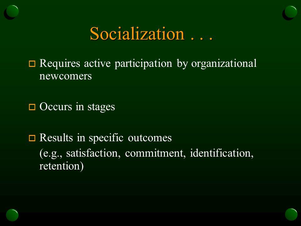 Socialization...