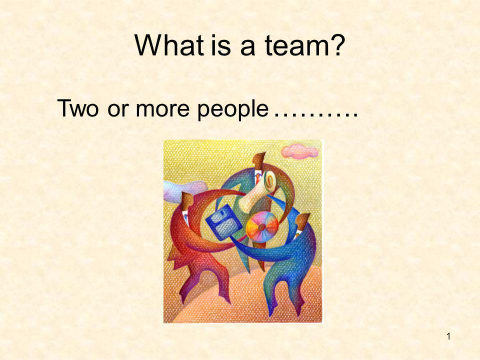 2 Teams Can be large (30) like the district leadership team Can be small (3) like the club membership committee