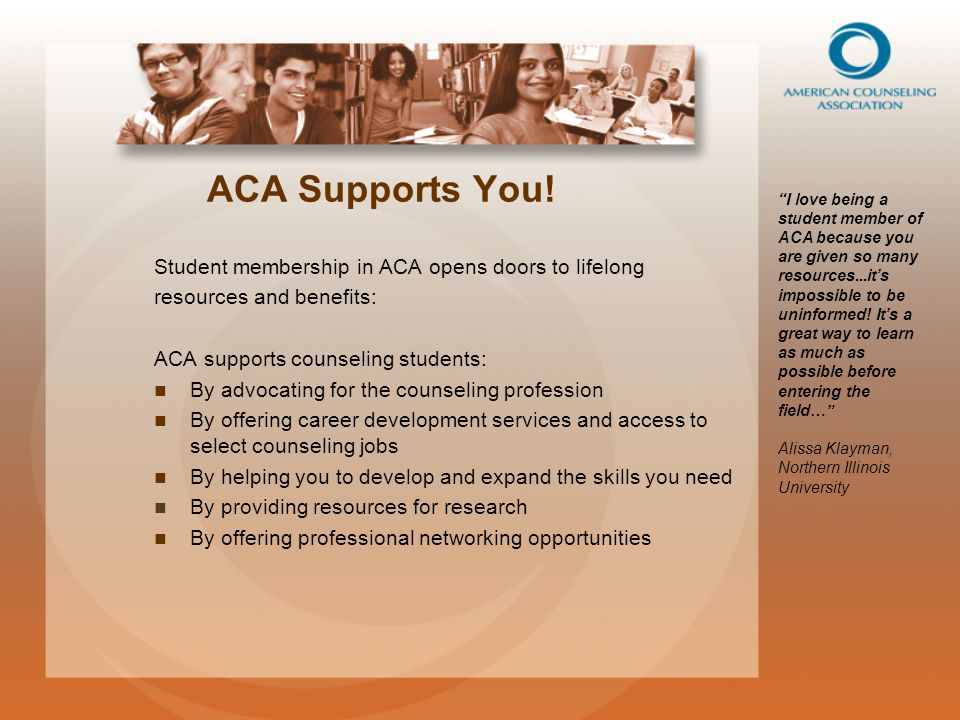 What Are Counseling Students Saying About ACA.