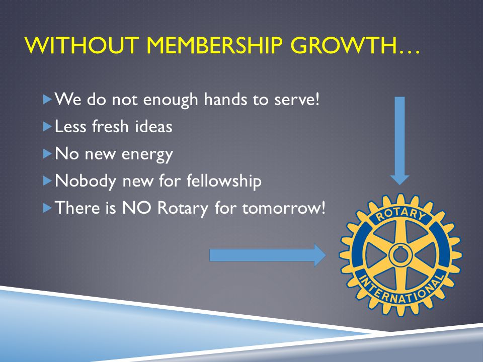 WHAT A MEMBER IS We Are All Ambassadors Of Rotary  Positive attitude towards the growth and goals of your club.