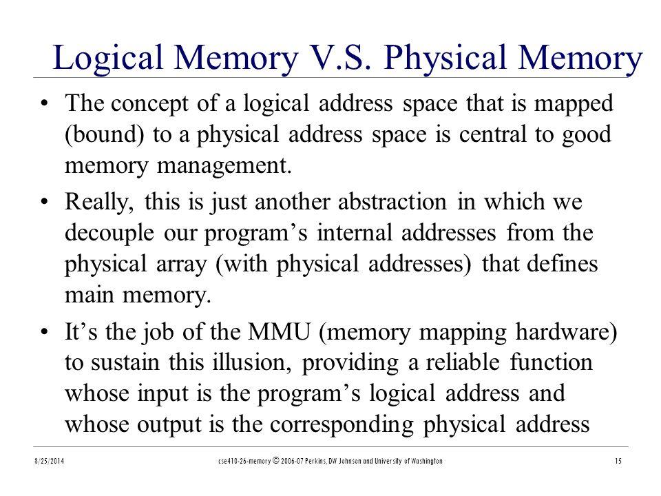 Logical Memory V.S.