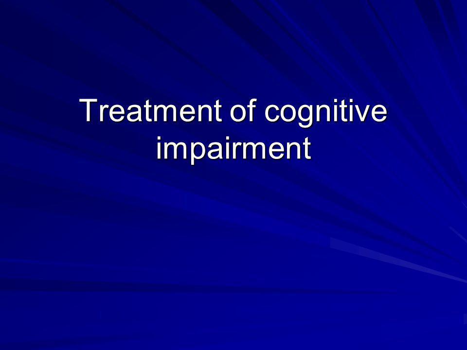 Treatment of cognitive impairment