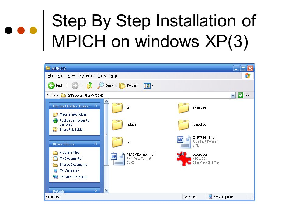 Step By Step Installation of MPICH on windows XP(3)
