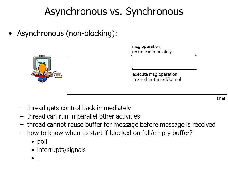 Asynchronous vs.