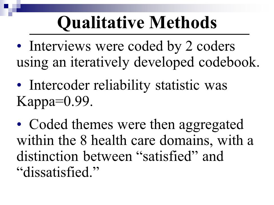Qualitative Methods Interviews were coded by 2 coders using an iteratively developed codebook.