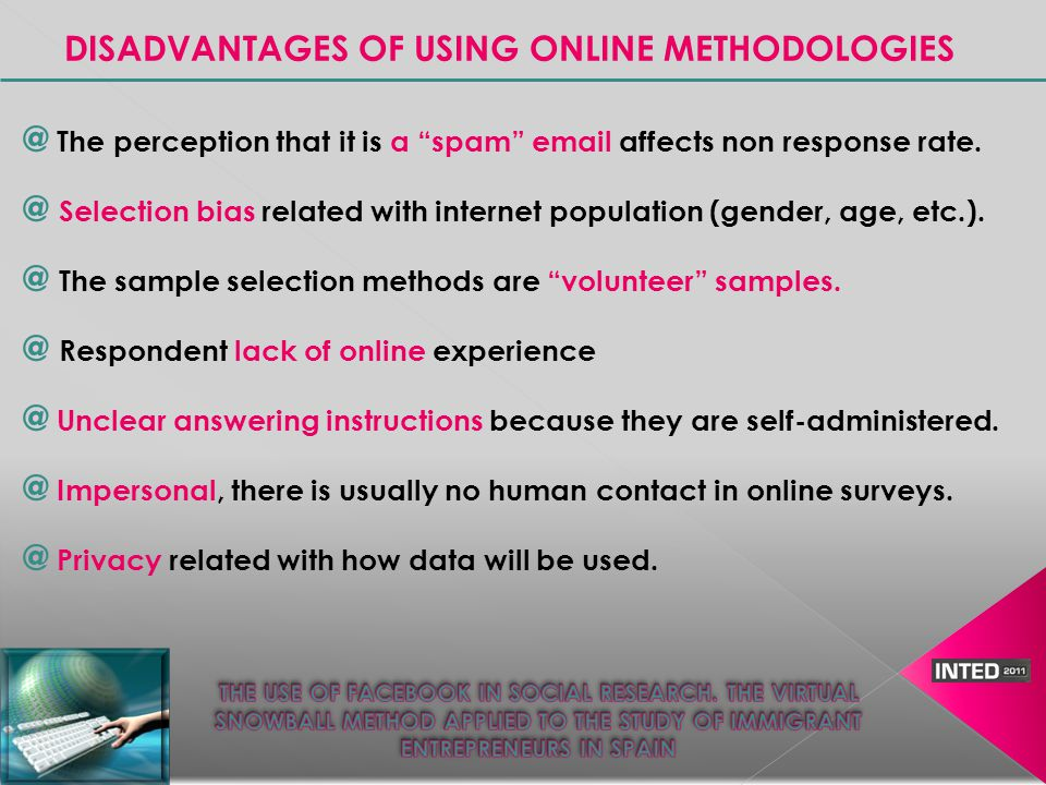 @ We explored 52 virtual groups @ We contacted their members sending them private messages @ We extended the sample size, asking each member if they knew anyone else (online or offline contact).