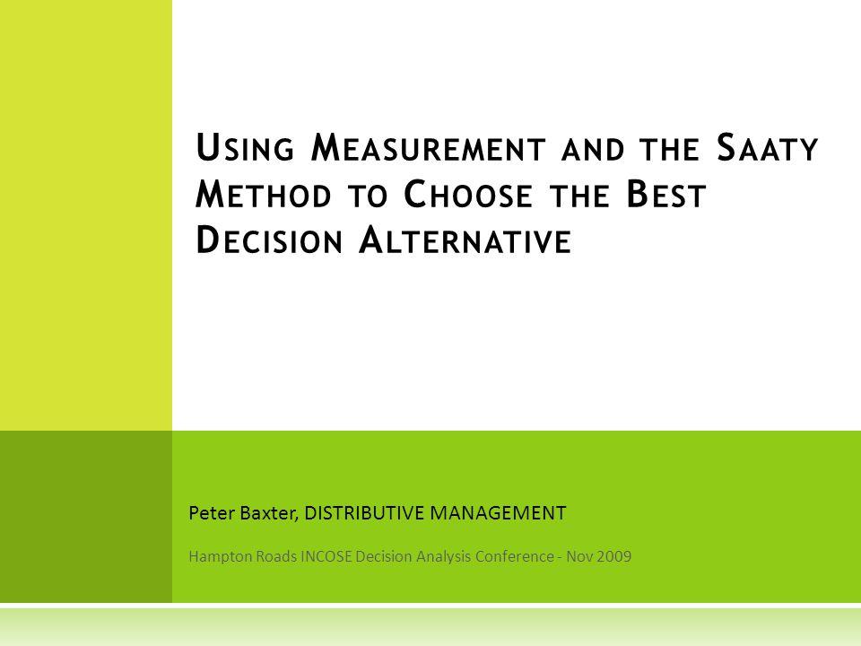 Peter Baxter Distributive Management www.distributive.com pbaxter@distributive.co m DISTRIBUTIVE MANAGEMENT 32
