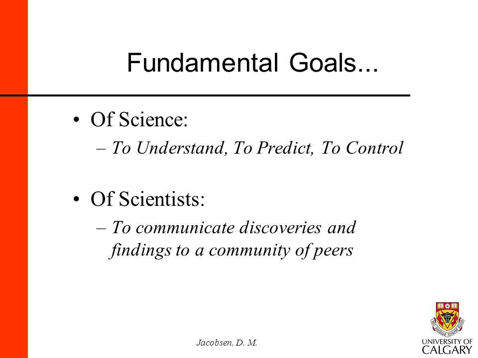 Jacobsen, D.M. Fundamental Goals...