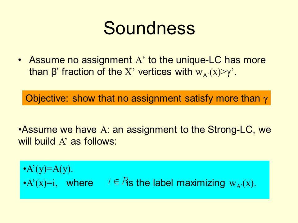 A'(y)=A(y). A'(x)=i, where is the label maximizing w A' (x).