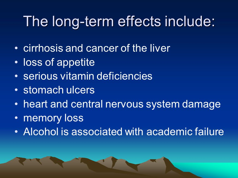 The short-term effects of drinking include: distorted vision, hearing, speech, and coordination altered perceptions and emotions impaired judgment and loss of self control, which can lead to accidents, drowning, and other risky behavior bad breath Make you feel sick or dizzy hangovers