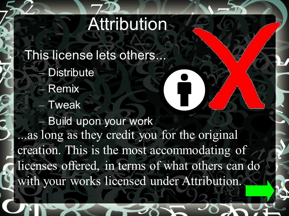Attribution Non Commercial Share Alike This license lets others...