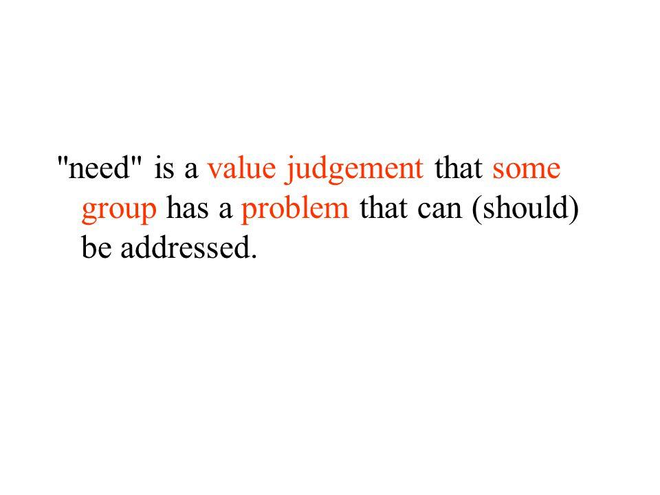 Whose value judgement.
