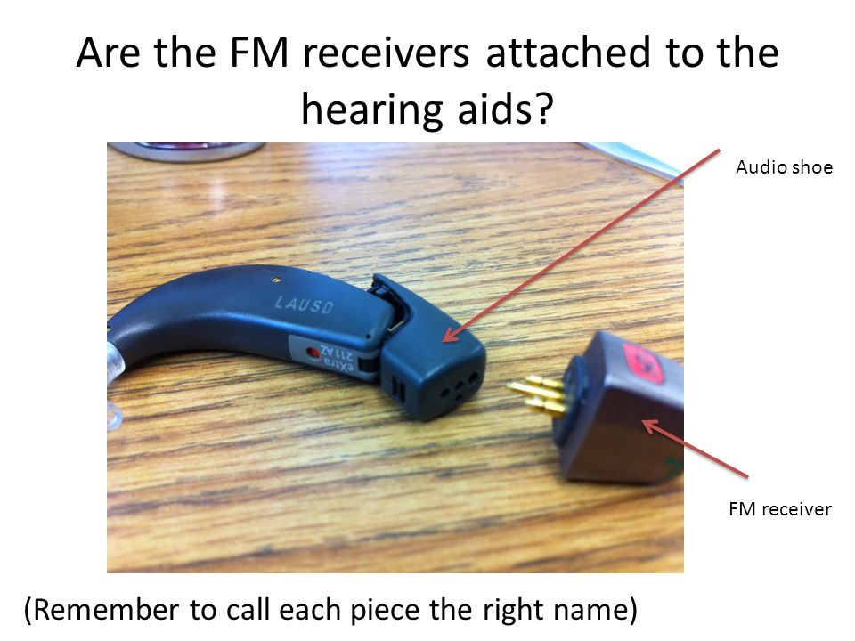 Are the FM receivers attached to the hearing aids.