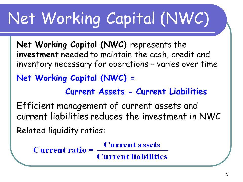 6 Working Capital - Cash 1.