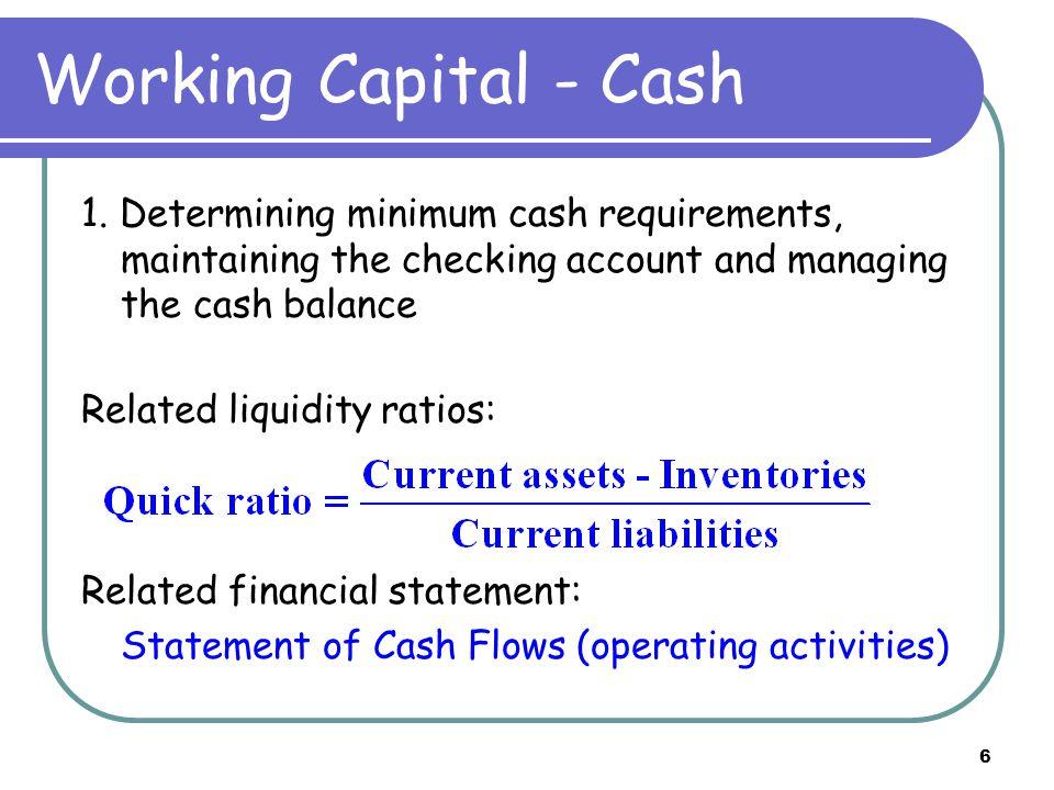 7 Working Capital - Credit 2.