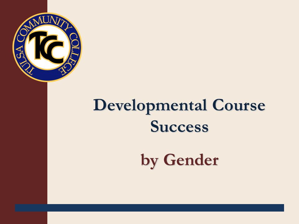 Developmental Course Success by Gender