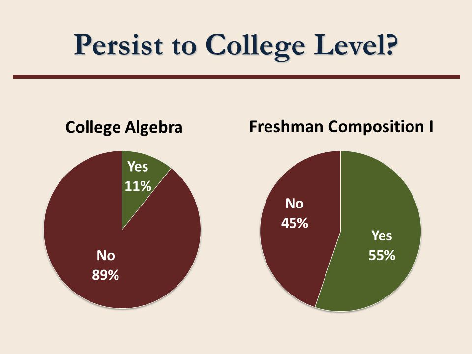 Persist to College Level?