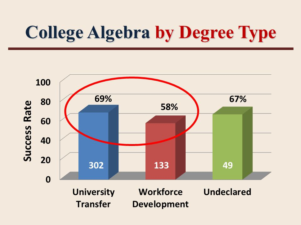 College Algebra by Degree Type 30213349