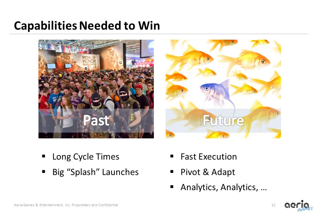 12 Capabilities Needed to Win Aeria Games & Entertainment, Inc.