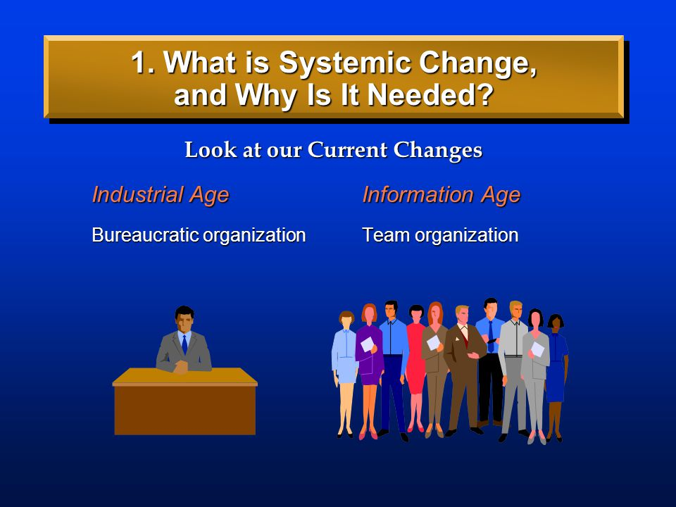 Industrial AgeInformation Age Look at our Current Changes 1. What is Systemic Change, and Why Is It Needed?