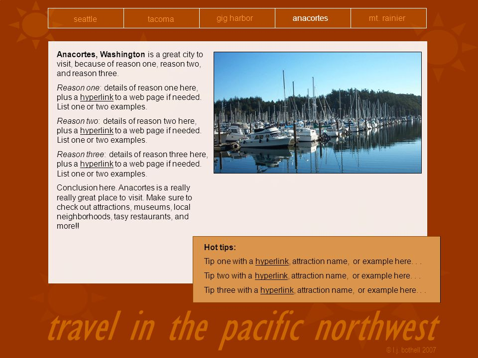 travel in the pacific northwest © l.j.