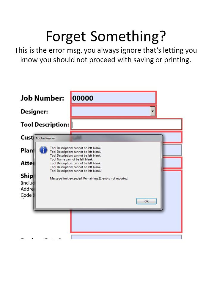 Forget Something. This is the error msg.