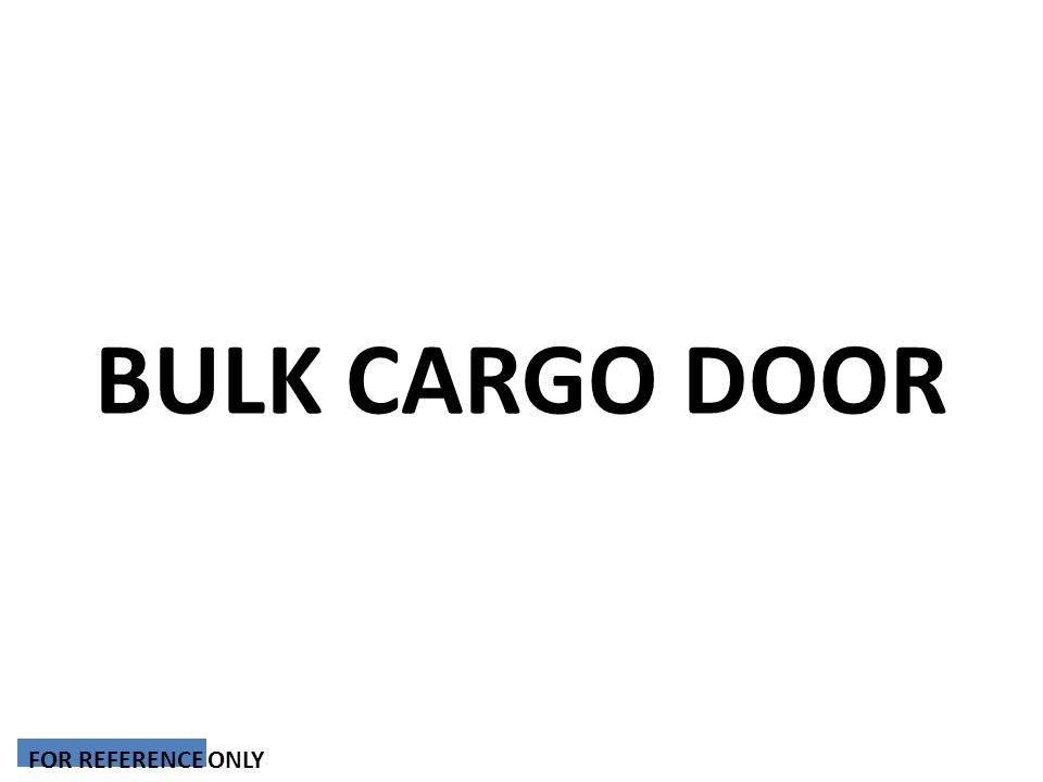 BULK CARGO DOOR FOR REFERENCE ONLY
