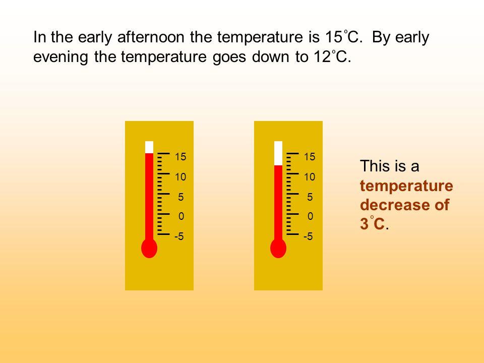 -5 0 5 10 15 -5 0 5 10 15 This is a temperature decrease of 3 C.