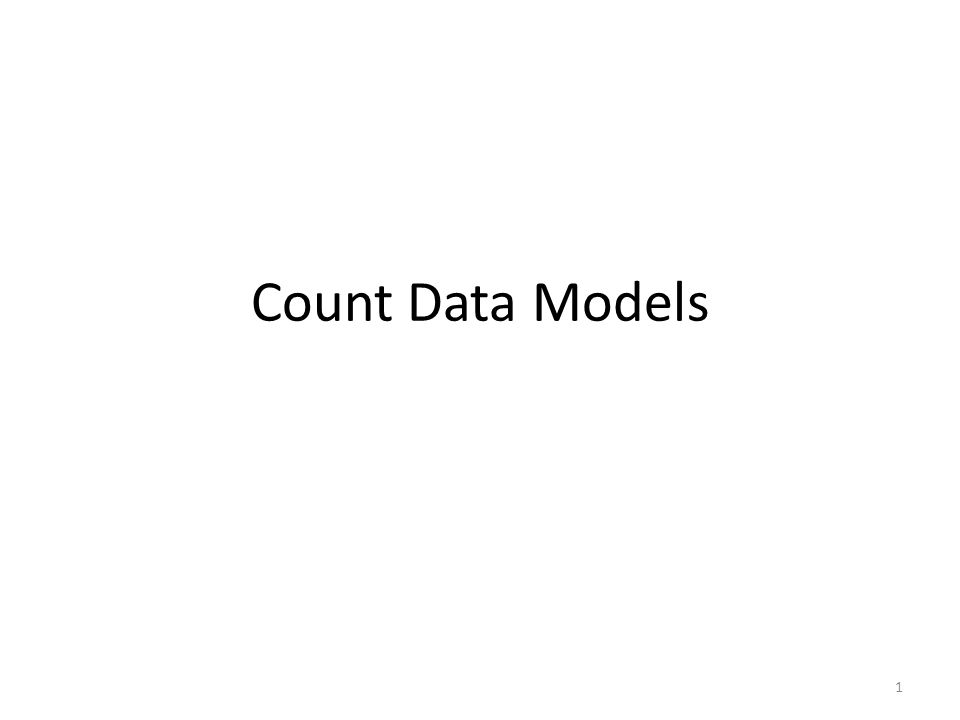 Count Data Models 1