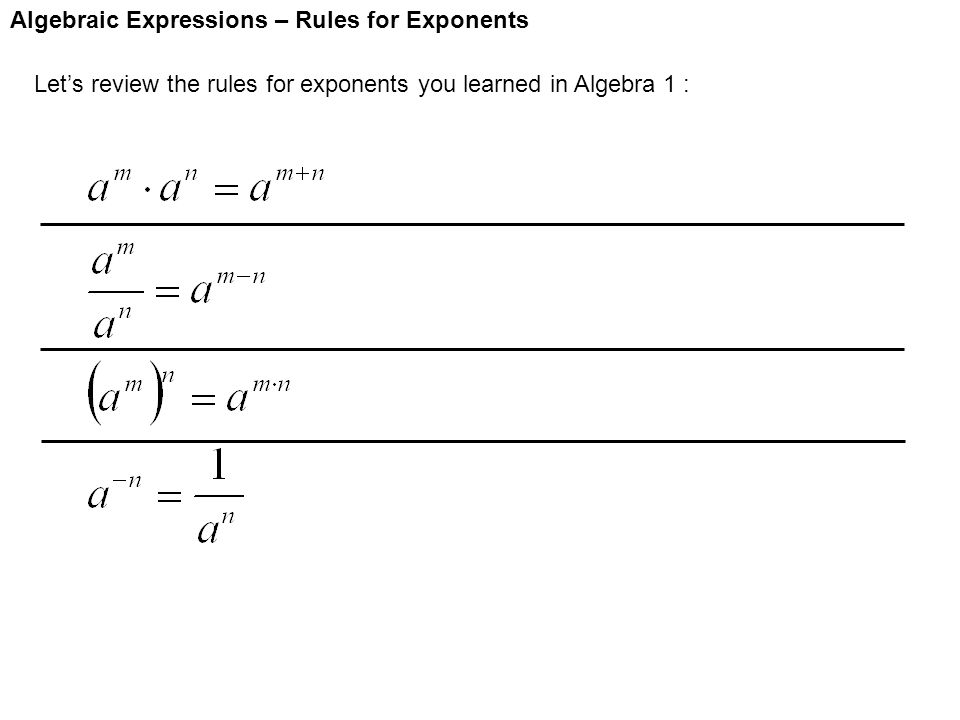 Printables Algebra 1 Review Worksheet algebra 1 review properties of exponents worksheet intrepidpath worksheets for kids