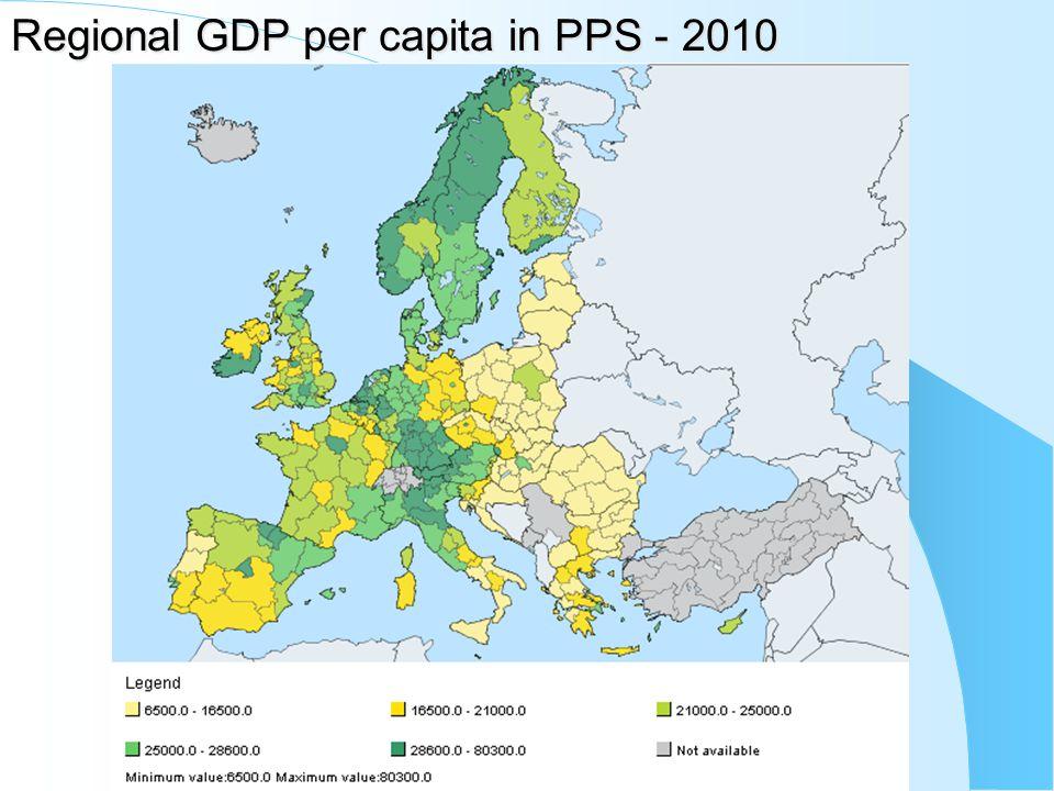 Regional GDP per capita in PPS - 2010