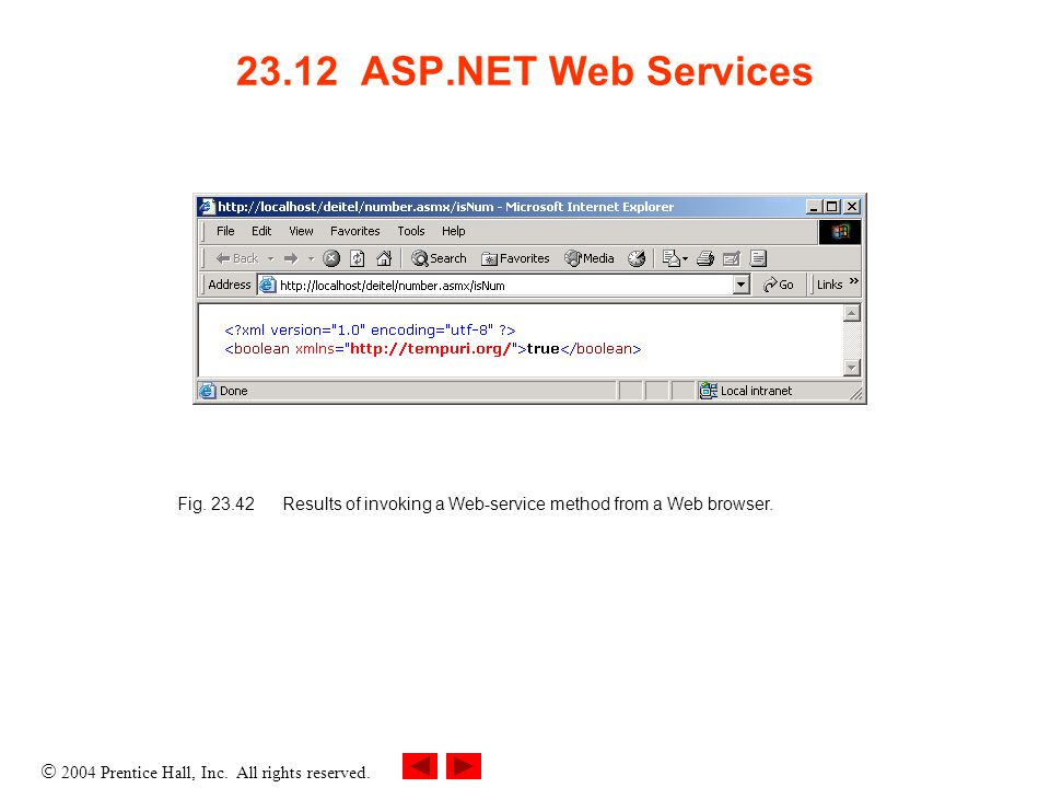 2004 Prentice Hall, Inc. All rights reserved ASP.NET Web Services Fig.