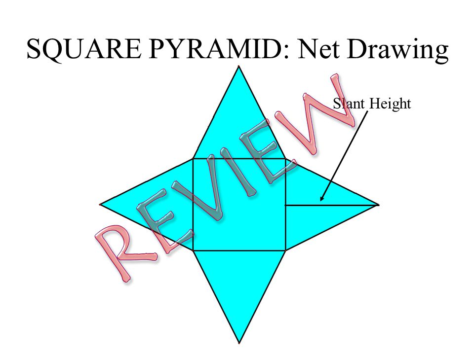 SQUARE PYRAMID: Net Drawing Slant Height