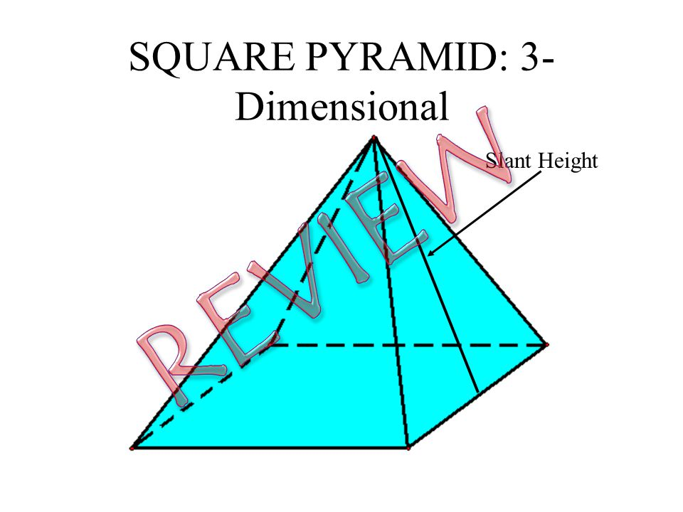 SQUARE PYRAMID: 3- Dimensional Slant Height