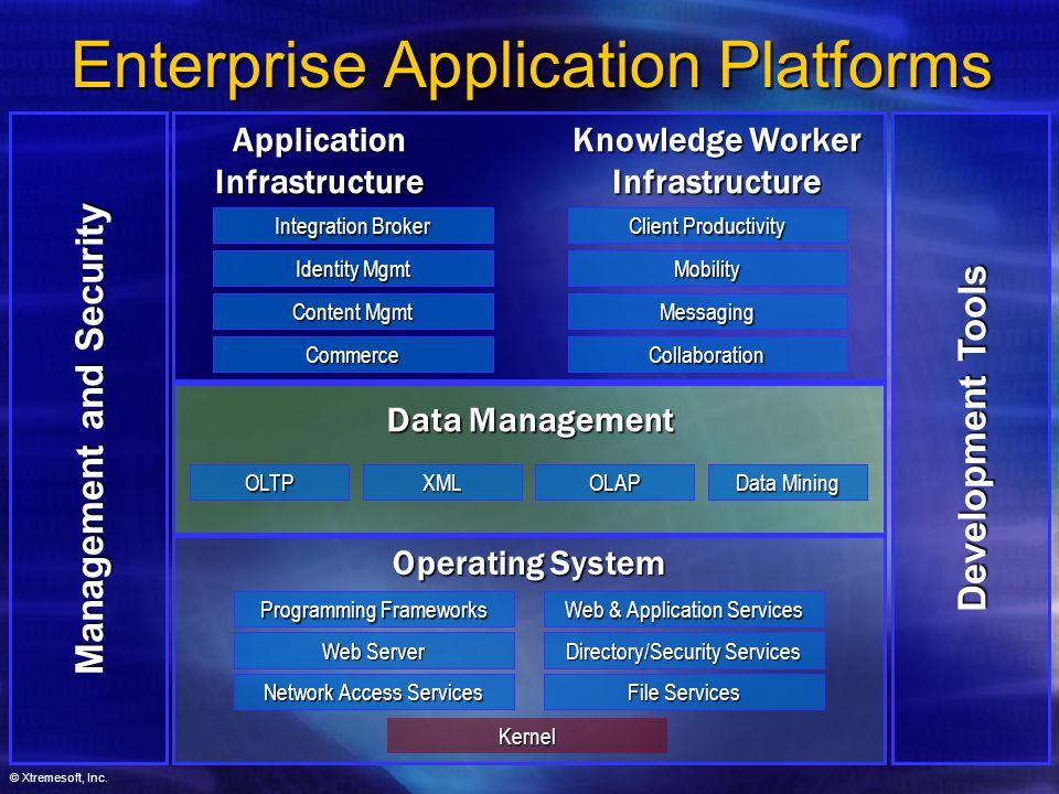 © Xtremesoft, Inc. Management and Security Development Tools Enterprise Application Platforms Network Access Services Web Server Programming Framework