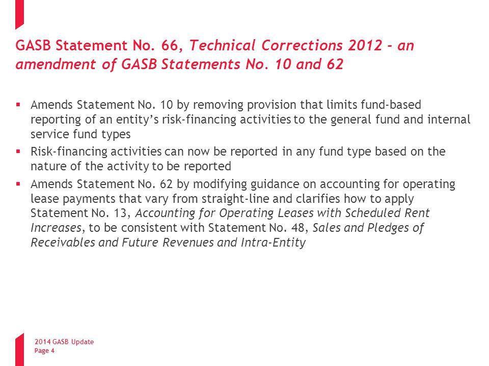 2014 GASB Update Page 15 GASB Statement No.