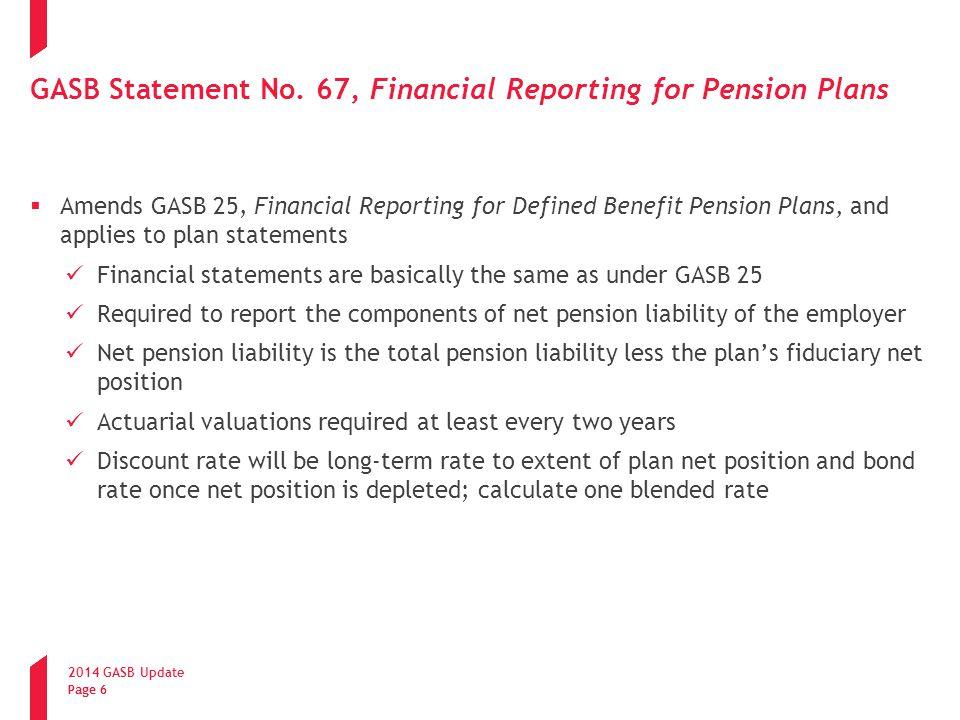 2014 GASB Update Page 7 GASB Statement No.