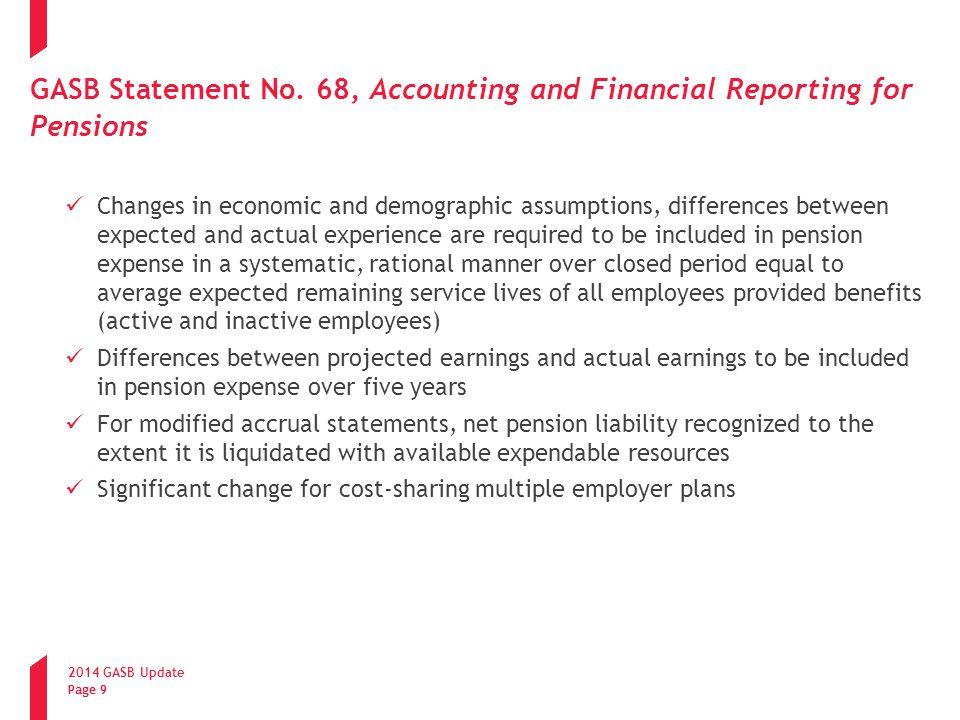 2014 GASB Update Page 10 GASB Statement No.