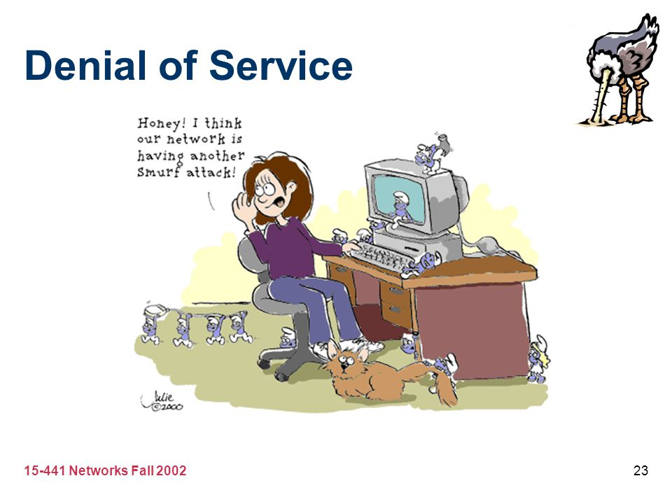 15-441 Networks Fall 200223 Denial of Service