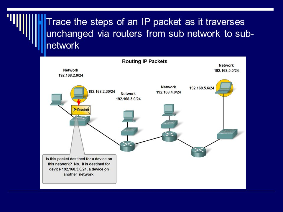 Routers  A router is connected to at least two networks.