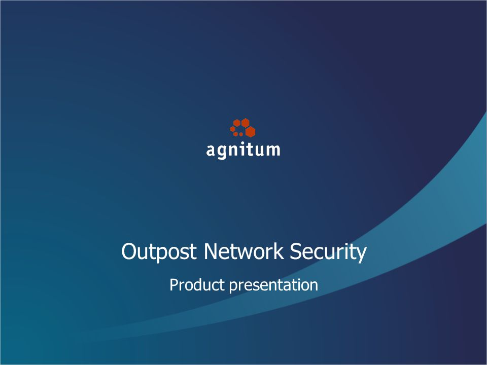 Outpost Network Security Product presentation