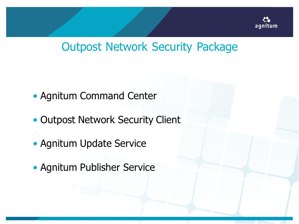Outpost Network Security Package Agnitum Command Center Outpost Network Security Client Agnitum Update Service Agnitum Publisher Service