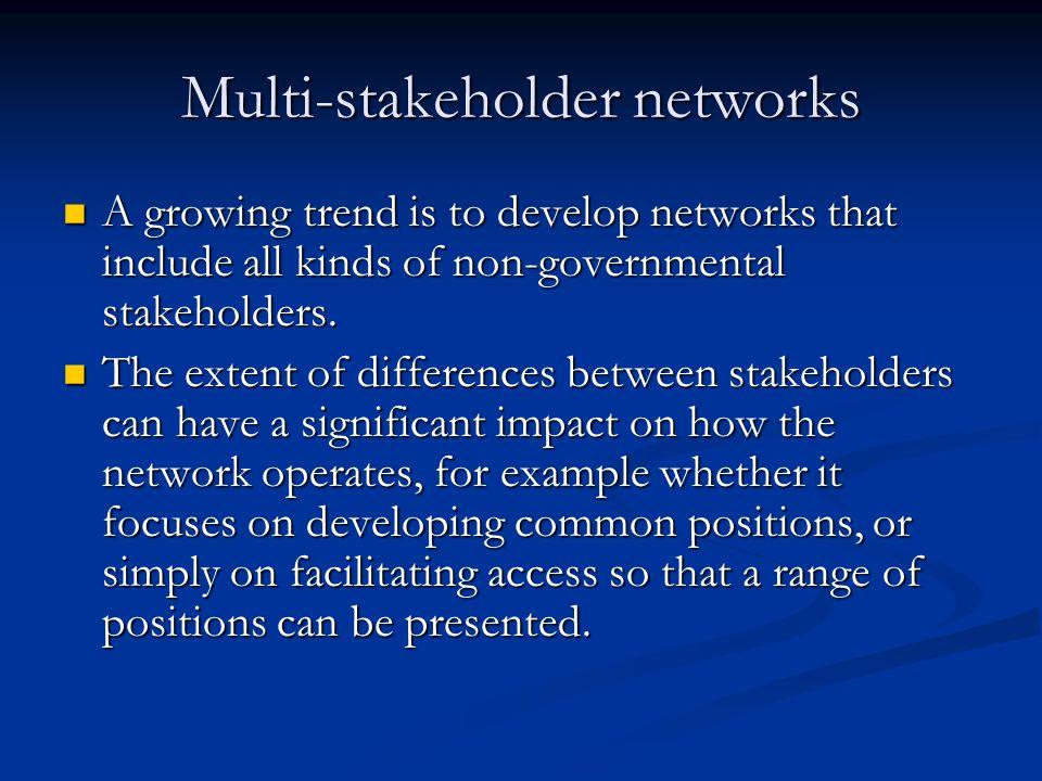 Establishing and operating networks Principles of effective partnership: 1.