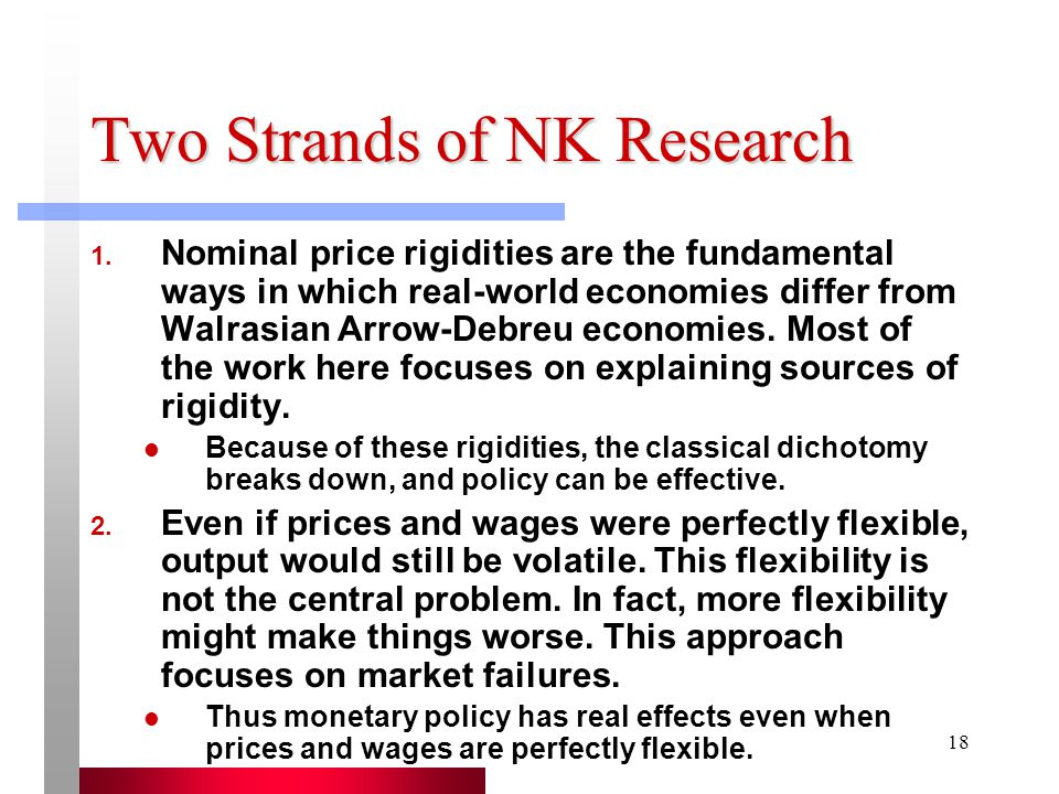 18 Two Strands of NK Research 1.