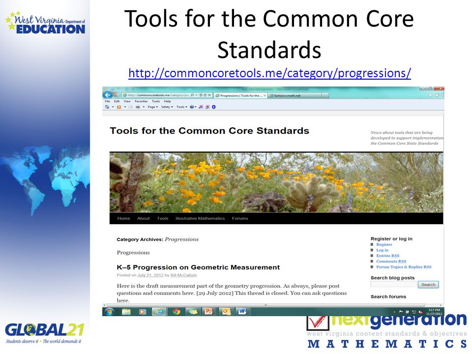 Tools for the Common Core Standards http://commoncoretools.me/category/progressions/ http://commoncoretools.me/category/progressions/